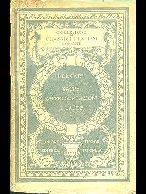 Sacre rappresentazioni e laude: Belcari