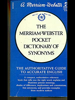 The merriam-webster pocket dictionary of synonyms: aa.vv.