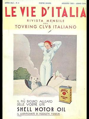 Le vie d'Italia n.8 anno 1935: aa.vv.