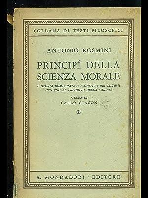 Principi della scienza morale: Carlo Giacon