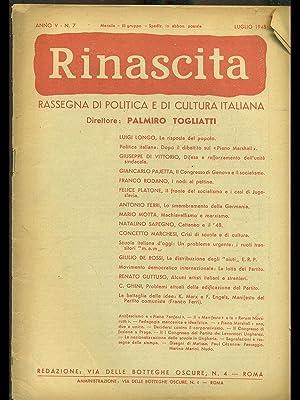Rinascita n. 7/luglio 1948: aa.vv.