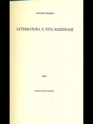 Letteratura e vita nazionale: Antonio Gramsci