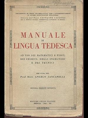 Manuale di lingua tedesca: Angelo Zancanella