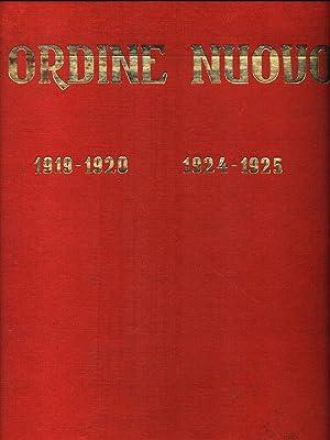 L'ordine nuovo 1919-1920 1924-1925: aa.vv.