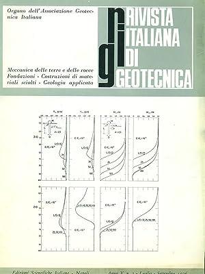 Rivista italiana di geotecnica anno X N3: aa.vv.