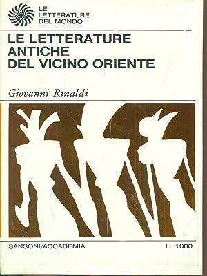 Le letterature antiche del vicino oriente: Giovanni Rinaldi