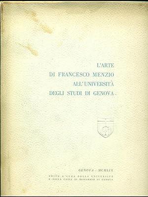 L'arte di Francesco Menzio all'Universita' degli Studi: aa.vv.