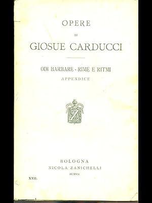 Odi Barbare e rime e ritmi: Giosue Carducci