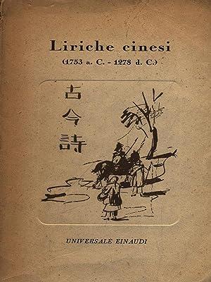 Liriche cinesi 1753 a.C. - 1278 d.C.: Giorgia Valensin /