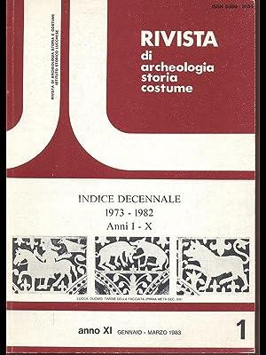 Rivista di archeologia storia costume anno XI: AA.VV.
