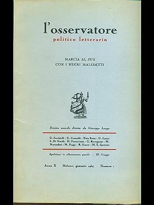 L'osservatore politico letterario n.1/gennaio 1964: AA.VV.