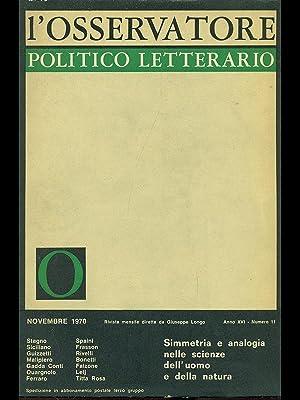 L'osservatore politico letterario / novembre 1970: AA.VV.