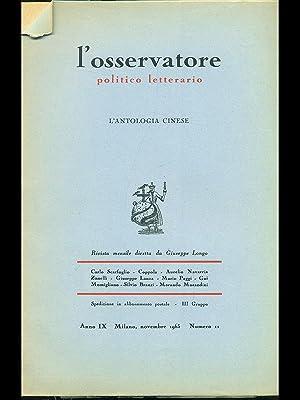 L'osservatore politico letterario - L'antologia cinese: AA.VV.