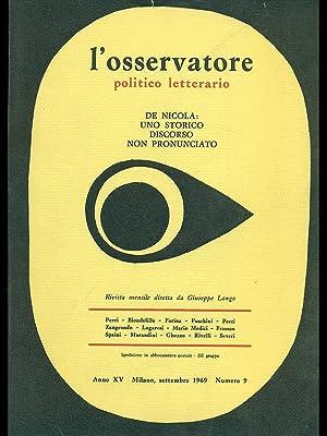 L'osservatore politico letterario - De Nicola: uno: AA.VV.