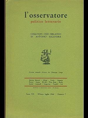 L'osservatore politico letterario - Colloqui con Orlando: AA.VV.