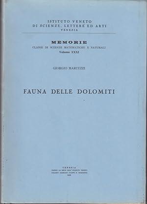 Fauna delle Dolomiti.: Marcuzzi,Giorgio.