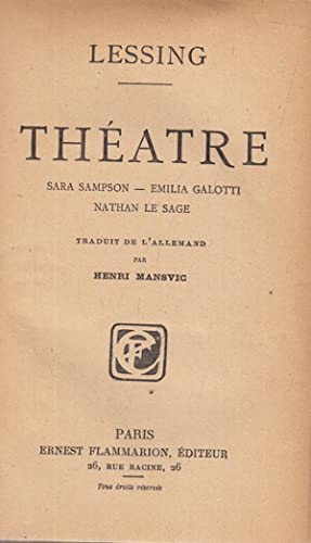 Theatre - in lingua francese: Lessing