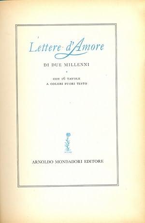 Lettere d'amore di due millenni: aa.vv.