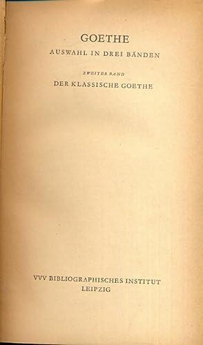 Zweiter band - in lingua tedesca: Johann Wolfgang Goethe