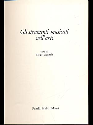 Gli strumenti musicali nell'arte: Sergio Paganelli
