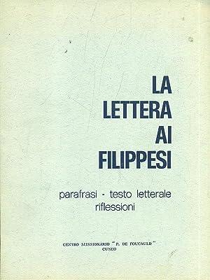 La lettera ai Filippesi: aa.vv.