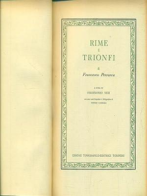 Rime e trionfi: Francesco Petrarca