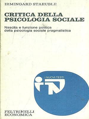 Critica della psicologia sociale