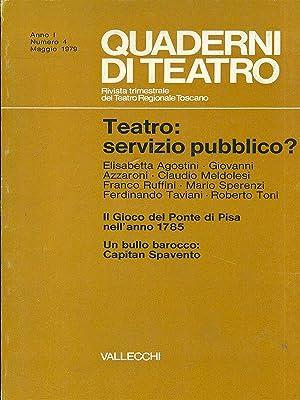 Quaderni di teatro n. 4 - Maggio: AA.VV