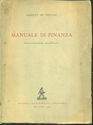 manuale di finanza: Alberto De Stefani