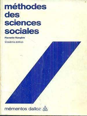 Methodes des sciences sociales: Pierrette Rongere