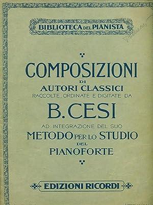 Metodo per lo studio del pianoforte -: Beniamino Cesi