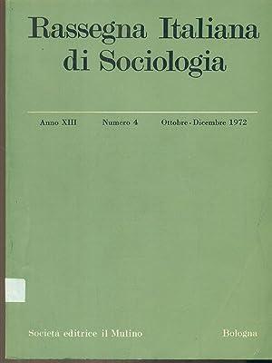 Rassegna italiana di sociologia numero 4 /: aa.vv.