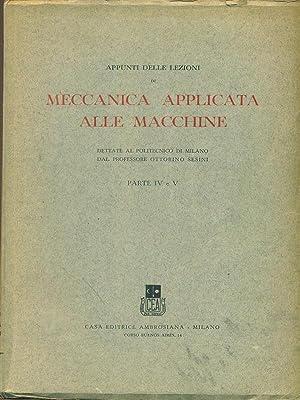 Appunti delle lezioni di meccanica applicata alle: AA.VV.