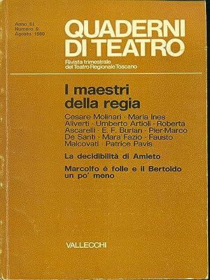 Quaderni di teatro n. 9/agosto 1980: AA.VV.