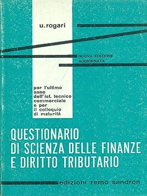Questionario di scienza delle finanze e diritto: U. Rogari