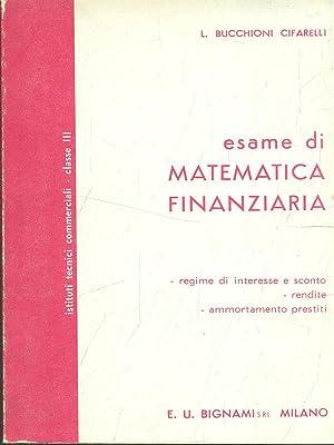 Esame di Matematica Finanziaria: L. Bucchioni Cifarelli