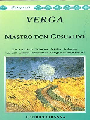 Mastro don gesualdo: Verga