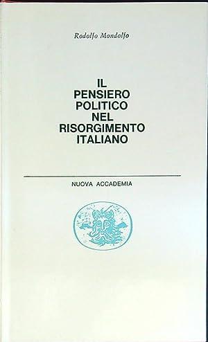 Il pensiero politico nel risorgimento italiano: Rodolfo Mondolfo