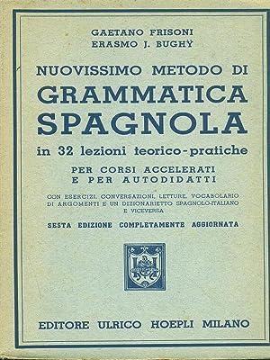 Nuovissimo medoto di Grammatica spagnola: Frisoni - Bughy