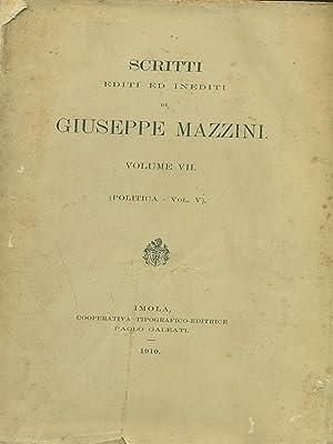 Scritti editi ed inediti di Giuseppe Mazzini: Giuseppe Mazzini