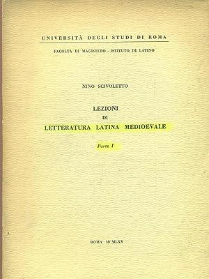 Lezioni di letteratura latina medioevale parte I: Nino Scivoletto