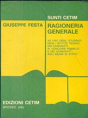 ragioneria generale: Giuseppe Festa