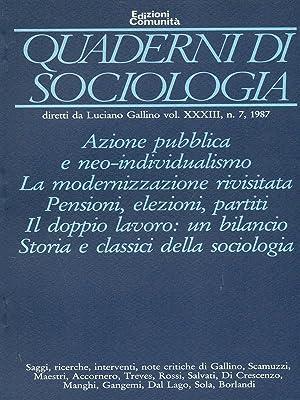 Quaderni di sociologia vol. XXXIII n.7 -: aa.vv.