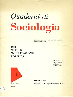 Quaderni di sociologia n. 3 vol. XXIII: aa.vv.