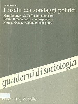 Quaderni di sociologia vol XL 1996 /10: AA.VV.