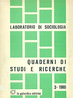 Laboratorio di sociologia: quaderni di studi e: aa.vv.