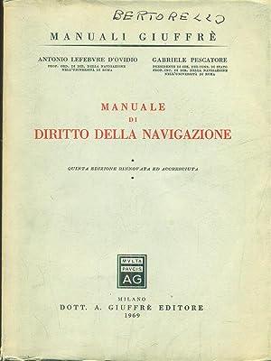 Manuale di diritto della navigazione: D'Ovidio - Pescatore