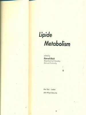 Lipide metabolism: Konrad Bloch