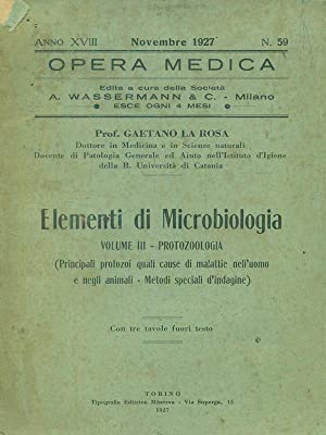 Opera medica n 59 / Novembre 1927: Gaetano La rosa