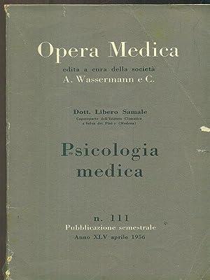 Opera medica 111 / psicologia medica: Libero Samale
